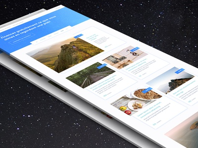 Home page UI gradient web cards space stars ui