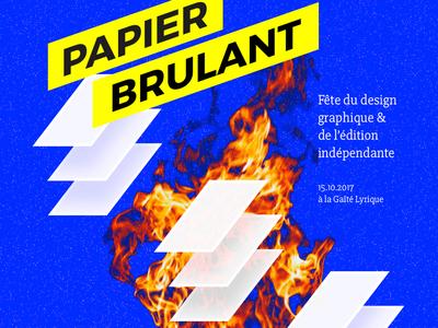 Papier Brulant poster blue fire