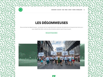 UI - website for an activist soccer team activist pattern soccer webdesign ui