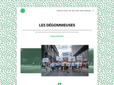 UI - website for an activist soccer team