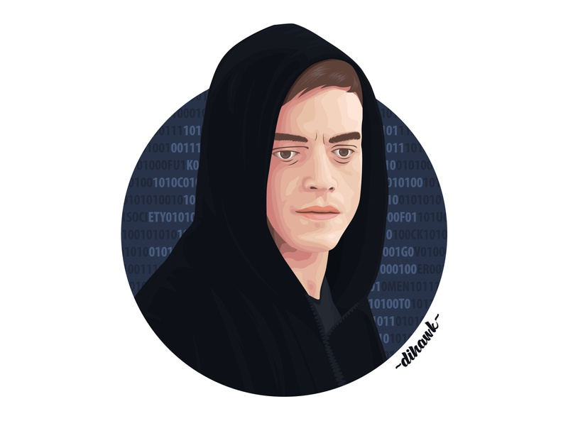 Elliot Alderson Vector Art