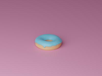Donut blue donut 3d design blender