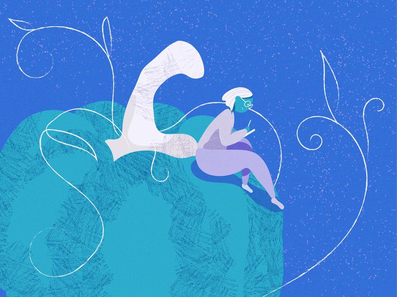 Drawing Dreams night pumpkin blue girl digital challenge september vibe illustration art graphic vector adobeillustrator design