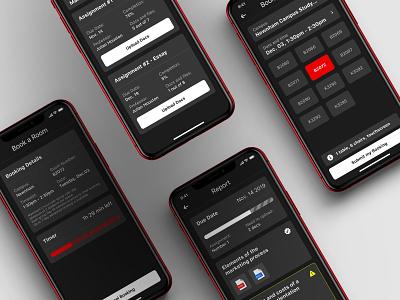 Seneca 2020 - Room Booking mobile application teen apple ios timer education study class booking dark mode red canada college seneca seneca 2020 app