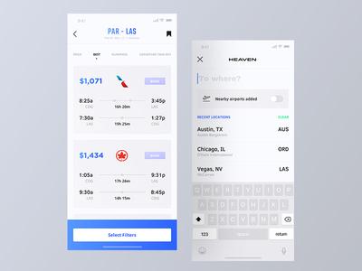 Heaven App - Flights
