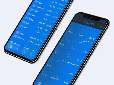 Stock Market App - Home Screen wallet ui token payment mobile icon design dashboard cryptocurrency crypto bitcoin app