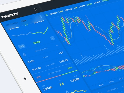 Stock Market App - Main Page for iPad wallet ui token payment ipad icon design dashboard cryptocurrency crypto bitcoin app