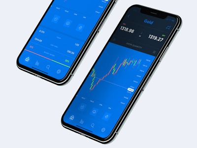 Stock Market App - Gold Chart wallet app token payment mobile icon design dashboard cryptocurrency crypto bitcoin chart