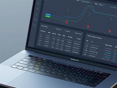 Value App web ui stocks statistic monitoring material market interface design dashboard application