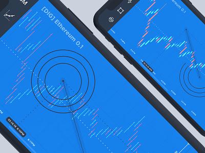 Stock Market App - Ethereum - Fibonacci Arc wallet token payment mobile dashboard cryptocurrency crypto coin blockchain bitcoin ethereum