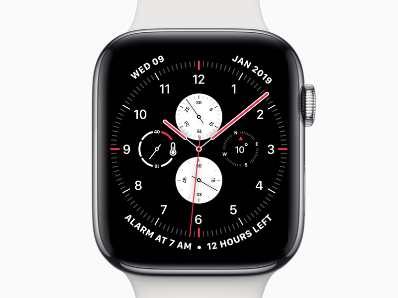 Apple Watch Face seconds hours minutes temperature compass white red dial clock watch face watch app watch ui watch os face watch apple