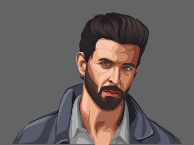 Hrithik Roshan Vector Illustration