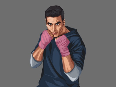 Akshay Kumar Vector Illustration