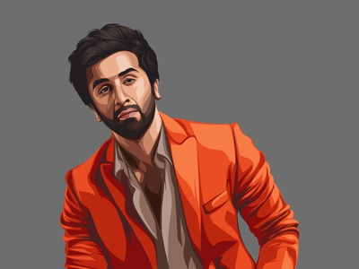 Ranbir Kapoor Vector Illustration