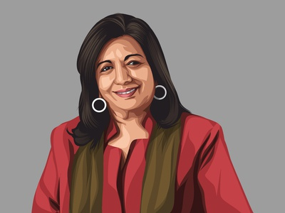 Kiran Mazumdar Vector Illustration