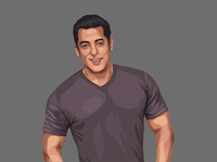 Salman Khan Vector Illustration