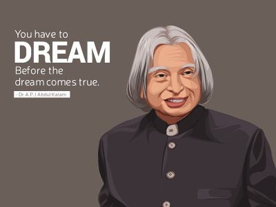 Dr. A.P.J Abdul Kalam Vector Illustration first shot debut shot debut dream indian abdul kalam vectorart photo to vector vectorized vectorise face vector illustration