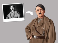 Adolf Hitler Vector Illustration