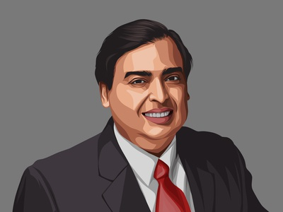 Mukesh Ambani Vector Illustration
