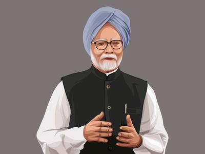 Manmohan Singh Vector Illustration