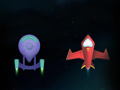 Spaceships spaceship space