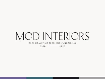 Mod Interiors Logo Design logodesign branding design brand identity brand design