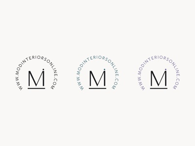 Mod Interiors Submark branding logo logodesign branding design brand identity brand design