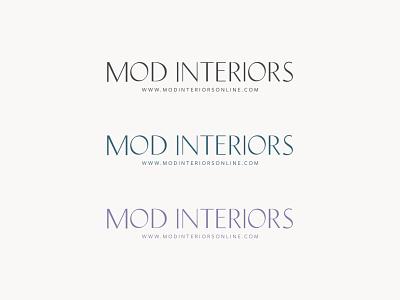 Mod Interiors Secondary Logo Design design logo branding logodesign branding design brand identity brand design