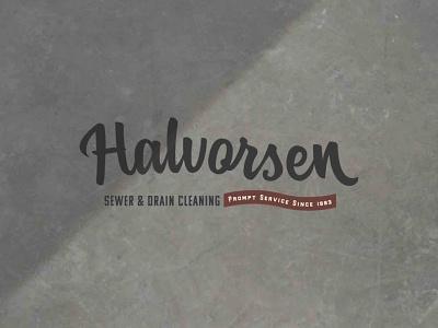 Halvorsen Sewer & Drain Cleaning Primary Logo design branding logo logodesign branding design brand identity brand design