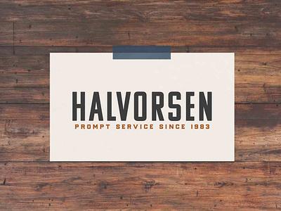 Halvorsen Sewer & Drain Cleaning Secondary Logo design branding logo logodesign branding design brand identity brand design