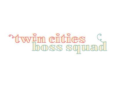 Twin Cities Boss Squad, Local Women's Community Primary Logo design logo branding logodesign branding design brand identity brand design
