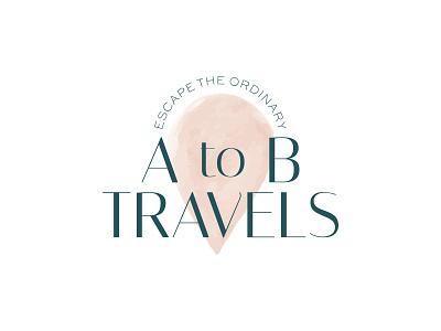 A to B Travels Primary Logo logo design branding logodesign branding design brand identity brand design