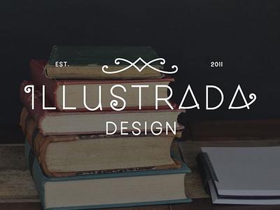Illustrada Design, Book Designer, Primary Logo logo design branding logodesign branding design brand identity brand design