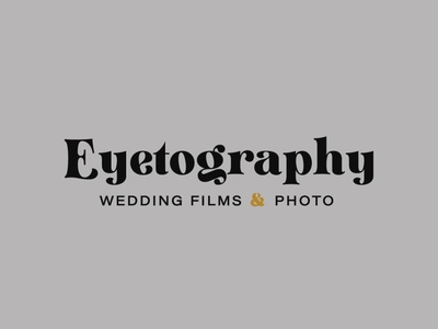 Wedding Photographer and Videographer Secondary Logo logo logodesign branding design brand identity brand design