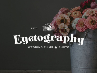 Primary logo for Eyetogrpahy, Wedding Video and Photo logo branding logodesign branding design brand identity brand design