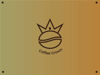 Coffee Crown Logo flat minimal icon vector branding design logo illustration