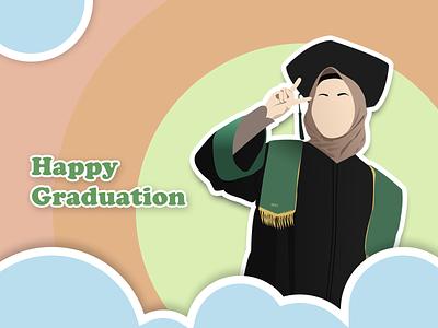 Graduation's Gift flat illustration figma branding vector