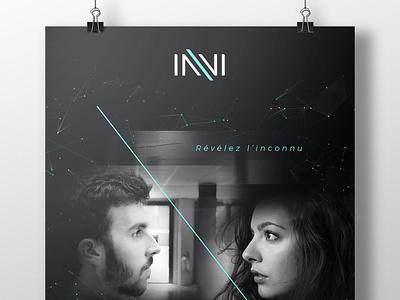 Invi's experience poster artistic direction print graphic design