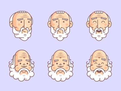 Plato & Socrates Avatars head design process avatar plato character illustration outline flat gartman fireart studio fireart