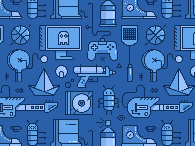 BugSplat Game Pattern by DAN Gartman for Fireart Studio on Dribbble