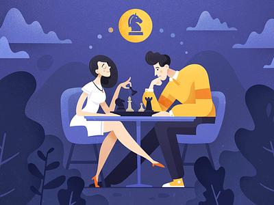 Chess noise app game explainer video illustration texture chess fireart studio fireart