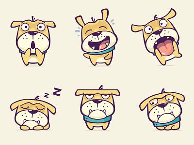 Kik. Sticker Pack  animals character dog vector app pack sticker illustration fireart studio fireart