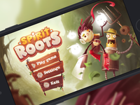 Spirit Roots - Main menu screen