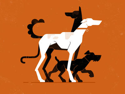 Dogs vector texture minimalizm nature gartman pet illustration dog