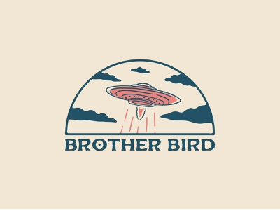Brother Bird - Merch Design tshirt shirtdesign badge clouds ufo merchandise merch design