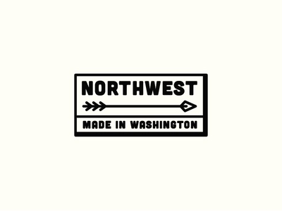 Northwest Patch pnw northwest badge patch simple illustration arrow vintage line art washington bellingham