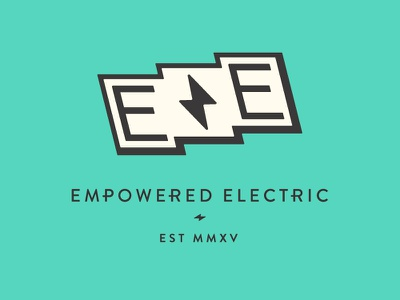 Empowered Electric color vintage empowered e simple icon branding badge mark flag logo electric