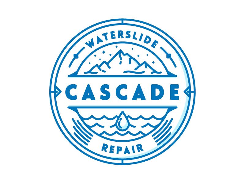 Cascade Waterslide Repair Badge by Andrew Berkemeyer on Dribbble