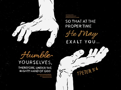 1Peter 5:6 texture illustration hand lettering typography hand drawn sermon series scripture verse
