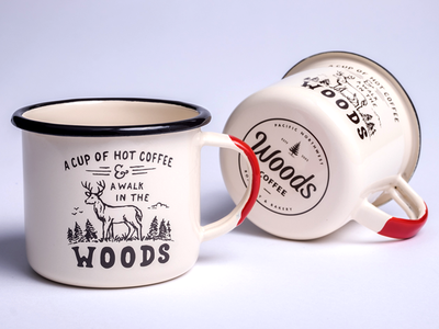 A Walk In The Woods - Enamel Mugs